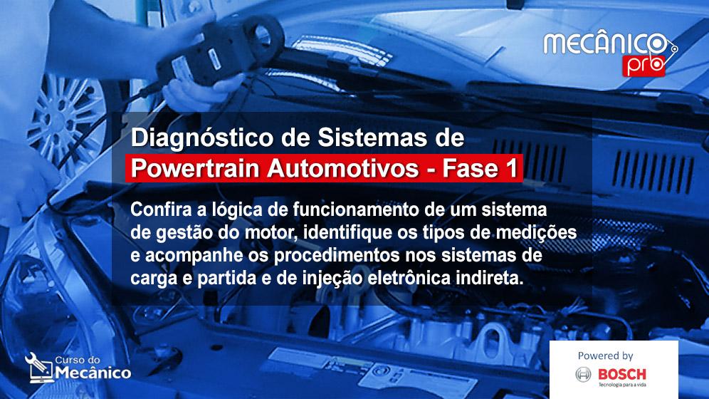 Diagnóstico de sistemas de Powertrain - Fase 1