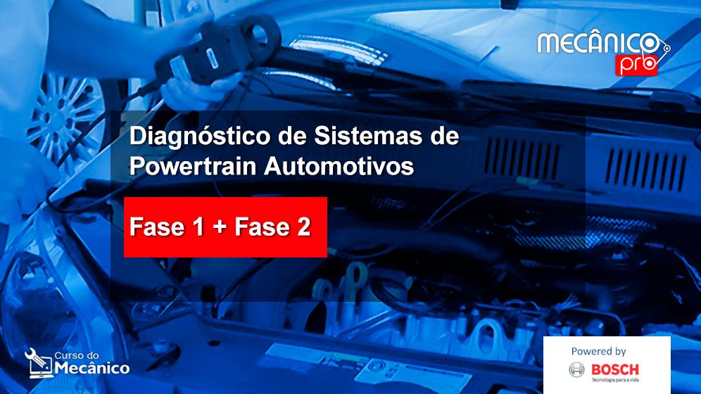 COMBO: Diagnóstico de sistemas de Powertrain - Fase 1 e Fase 2