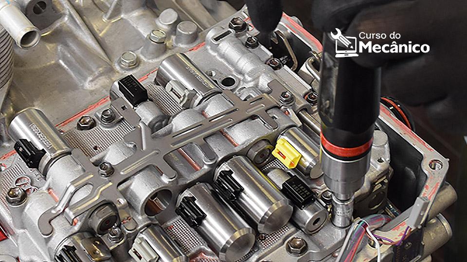 Manutenção periférica da caixa de velocidades AISIN AT6 da PSA